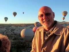 2013-100917B (bubbahop) Tags: rock turkey head hotair balloon shaved bald fairy jacket chimneys cappadocia formations greme goreme 2013 bubbahop europetrip29 voyagerballoons