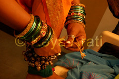 Tying ghungaroos (keyaart) Tags: india men women dancers folk mumbai lavani