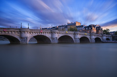 Pont Neuf (AO-photos) Tags: longexposure paris water seine architecture clouds pont brigde pontneuf sigma1020