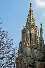 Ulm - Münster (4) (Pixelteufel) Tags: ulm tourismus architektur fassade gebäude historisch restauriert erneuert mittelalter gotik gotisch kirche münster sakralbau gebetshaus kirchenarchitektur kirchenfassade religion glaube verzierungen ornamente dekor kirchturm herbst