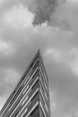 Three lines and squares (Caslo86) Tags: building lines architecture clouds san nuvole squares geometry edificio palazzo architettura donato geometria linee milanese quadrati