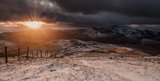 Blinded by the light - Siabod Winter Sunset - Explored
