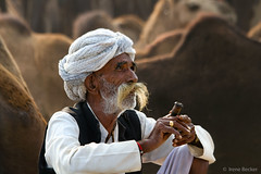A Man with his Pipe (Irene Becker) Tags: portrait india face animals rural beard countryside desert outdoor sale traditional pipe earring smoking camel marketplace turban mustache pushkar firewood rajasthan hookah imagesofindia pushkarcamelfair incredibleindia indianimages annualevent pushkarcattlefair livestockfair animalsforsale pushkarkamela smokingachillum animalsfortrading irenebeckereu