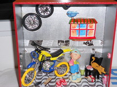 Garagem - Menino (Regina Atallah) Tags: brasil handmade artesanato decoration quarto criana decorao cozinha mdf brasileira ambientes guirlandas reginaatallah