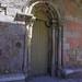 Portail roman, église Nosa Señora das Areas, Finisterre, province de La Corogne, Galice, Espagne.