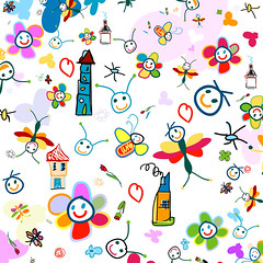 background for kids (espritlibrejouk13) Tags: house abstract flower cute love nature colors smile face lines animal kids butterfly painting insect hearts fun design spider flying leaf nice eyes funny colorful pattern child drawing background creative shapes style petal romania element stylized childlike