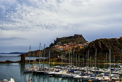 Castlesardo (AaronP65 - A sincere thnx for over 1 million views) Tags: ocean sardegna blue red sea italy orange green castle church water yellow marina town rocks mediterranean italia sardinia village medieval chiesa aragon sailboats fortress savoy hilltown genoese autofocus castelsardo aragoncastle anglona mygearandme mygearandmepremium ringexcellence dblringexcellence flickrstruereflection1