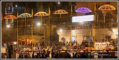 3617 - Aarthi at Dasaswathamedh Ghat ,Varanasi (chandrasekaran a 34 lakhs views Thanks to all) Tags: travel india evening faith prayer religion culture traditions varanasi custom hinduism usage practices rituals ghats aarthi riverganges canon60d canonef70300mm uttarpredesh dasaswathamedhghat