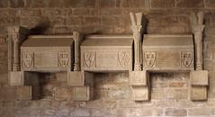 CLAUSTRO DEL MONASTRERIO DE SANTA MARA DE L'ESTANY - tumbas (beagle34) Tags: barcelona catalunya 125 claustro lestany feretros elbages canon7d caustre monestirdesantamariadelestany