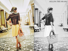 Desy Fashion (Suryo Pras) Tags: bw collage modern night dinner vintage bag hotel corridor story chrome series casual elegant drama