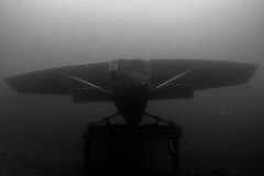 Capernwray-201311-Pm32-Cessna-TakeOff-BW (Tony J Gilbert) Tags: divers underwater diving lancaster quarry underwaterphotography capernwray overkellet jackdawquarry divingquarry wwwdivesitecouk