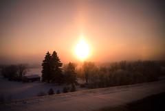 Greetings from Canada (Surrealplaces) Tags: winter sunset canada calgary alberta