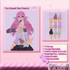 {Amai} Too Sweet Icecream! (Inuoko Shikami - {Amai}   Devour Souls) Tags: anime cute store candy eat secondlife bakery kawaii sweets nom mouthie inuoko {amai}