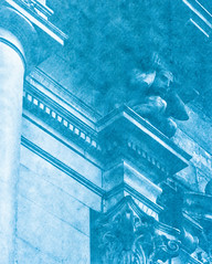 solar_paper0001 (www.cjo.info) Tags: people urban blackandwhite sculpture man building art monochrome statue architecture scotland blackwhite unitedkingdom glasgow carving classical citycenter technique merchantcity oldbuilding neoclassical cyanotype crouchingman geo:state=scotland geo:city=glasgow geo:countrys=unitedkingdom silverprintsolarpaper