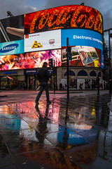 Piccadilly reflections (www.nick-moore.com) Tags: city winter cold reflection london classic tourism wet car rain weather bike shop night reflections shopping dark advertising lights colours ride bright cola fiat circus walk district soho capital citroen central samsung piccadilly coke icon tourist tourists business busy reflect rainy commercial cycle raining puddles iconic coca economy w1 soaked tdk commercials advertisments adverts 2014