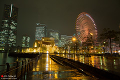 Yokohama Canal Park (Masahiko Futami) Tags: city reflection water rain japan architecture night canon asia photographer illumination 日本 yokohama 横浜 建築 建物 sakuragityou 夜 みなとみらい minatomirai21 雨 桜木町 反射 イルミネーション 都市 みなとみらい21 eos5dmarkiii