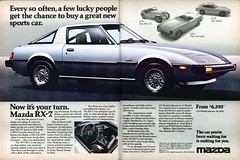 1978 Mazda RX-7 Advertisement Playboy July 1978 (SenseiAlan) Tags: july advertisement playboy 1978 mazda rx7