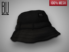 "[BUC] ""Black"" Brixton Bucket Hat (Bhad Craven 'Bad Unicorn') Tags: life urban london fashion bucket clothing mesh bad hats sl made secondlife second 100 unicorn exclusive bu craven buc bhad"