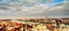 Budapest - 2014 - HDR (topcu2011) Tags: city travel color beautiful view cloudy budapest january parliament olympus scene ozgur enjoy zgr hdr omd em5 topcu