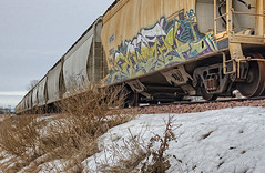 _MG_2344 (JacobBoomsma) Tags: winter snow southdakota train graffiti cloudy traintrack siouxfalls