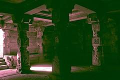 6555: Vitthala Temple Annexe, Hampi. (Atul Sabnis) Tags: light shadow stone architecture space pillars chiaroscuro