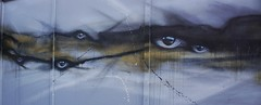 Blowers Daughter (Los Dave) Tags: street streetart abstract art ink dark landscape eyes spraypaint melancholy drama collaboration mydogsighs lacquer colab losdave