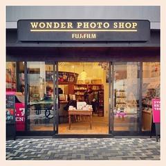FUJIFILM WONDER PHOTO SHOP (foxfoto_archives) Tags: apple japan shop square wonder tokyo photo shibuya sierra squareformat harajuku  fujifilm   omotesando   iphone4  iphoneography instagram instagramapp uploaded:by=instagram