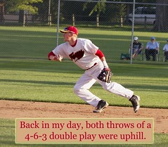 010 - In my day, both throws of a 4-6-3 caption (Paul L Dineen) Tags: words sayit sports baseball smnotchecked baseballnov17 csl csl2014to2016 csl2014to2016b csltodo isdone college
