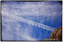 WildBlueYonder (Eric Gail: AdventuresInFineArtPhotography) Tags: sky clouds canon contrail joshuatree climbing ericgail 21studios