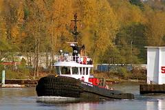 tug SEASPAN VENTURE (agent1320) Tags: canada river boat marine britishcolumbia tugboat tug tow barge towing towboat