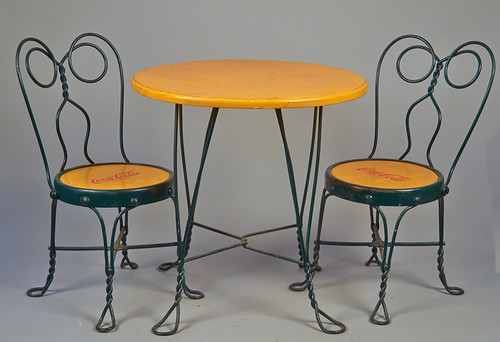 1508 coca cola children s painted table chairs dining set round