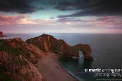 Durdle Door (Mark R Farrington) Tags: uk sea england sky green canon easter landscape photography eos evening chalk scenery arch outdoor turquoise bluesky cliffs dorset 7d april lulworth senic durdledoor jurassiccoast desc2012