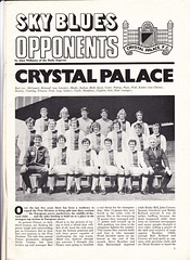 Coventry City vs Crystal Palace - 1971 - Page 5 (The Sky Strikers) Tags: coventry city crystal palace best badge ever visitors clinging top tier 1970s programme football team photograph cpfc