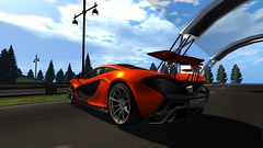 Forza Motorsport Alex 2 (alexandriabrangwin) Tags: world orange woman money beautiful racetrack computer pose one 3d graphics shot 5 metallic xbox secondlife virtual mclaren forza hybrid supercar p1 cgi motorsport hypercar harumotors alexandriabrangwin