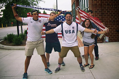 162/365 USA Hooligans (Bernie Anderson) Tags: world blue red people usa white sc cup fifa fans worldcup isa greenville 500px ifttt