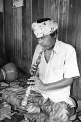 Ayah Chik (Blind Musician) (<Pirate>) Tags: musician blackwhite moments blind traditional ii elan chik kelantan ayah bachok hc11o kemasin fomapan4oo
