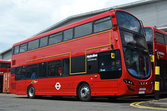 Metroline VWH2012 LK14FBF (Will Swain) Tags: uk travel red england west bus london buses june industrial estate britain south transport 21st 7 route greater 7th 2014 perivale metroline vwh2012 lk14fbf