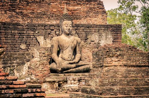 Bhumisparsha Mudra. The gesture of enlightenment