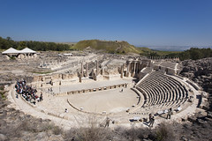 ROMAN THEATER IN BEIT SHEAN NATIONAL PARK_ITAMAR GRINBERG_IMOT (Israel_photo_gallery) Tags: people history archaeology israel columns event column archeology touring romanruins jordanvalley panoramicview beitshean northernregion ancientromantheater itamargrinberg