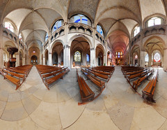 360 interior viewCathedral Nevers (Lux4u2) Tags: nevers france lux4u2 cathedral stcyr 360view interior