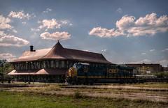 I knew (builder24car) Tags: railfanning benchingthefreights intermodal csx csx3187 b23s7 diamond perspective intothesun railroad depot station hamletnorthcarolina