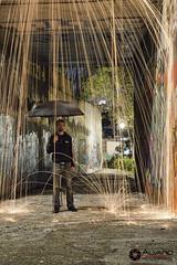 Lluvia cida II (lvaro (Photographer & Graphic Designer)) Tags: larga exposicin long expo longexpo noche night nocturna madrid lana acero steel wal whall fire ciudad city grafitti hormign calle street