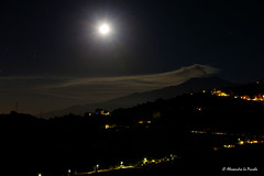 Etna under the Moonlight @ Ferragosto... (Alessandro Lo Piccolo Hollweger) Tags: etna volcano sicily taormina kitson moonlight plume eruption