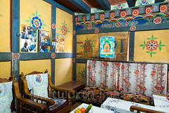 Sitting room (whitworth images) Tags: painted furniture sitting clash wooden farmhouse himalayas carved bhutan buddha culture punakha travel house motif couch bhutanese posters sopsokha asia western modern indoors room homestay contemporary walls flower style himalaya loung yellow decorated traditional punakhadzongkhag
