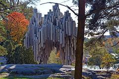 Sibelius Monument, Helsinki (JohntheFinn) Tags: sibeliusmonument monumentti muistomerkki helsinki autumn fall syksy finland suomi statue patsas veistos europe eurooppa klaggy sculpture