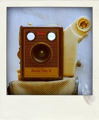 Brownie Flash II (Leo Reynolds) Tags: xleol30x poladroid polaroid faux fauxpolaroid fake fakepolaroid phoney phoneypolaroid camera