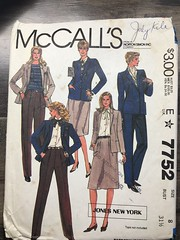 7752 (mrogers1@uw.edu) Tags: jacket skirt pants 1981 1980s jonesnewyork mccalls unchecked