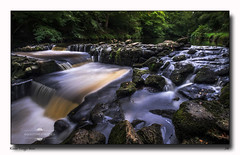 River Teign Weir (jeremy willcocks) Tags: riverteign devon dartmoor river weir colour landscape uk england water trees green jeremywillcocks wwwsouthwestscenesmeuk fujixt10 xf1024mm