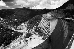 The dam (cabano-82) Tags: dam ridracoli diga italia italy bw landscape nature architecture