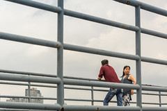caged? (stevefge) Tags: china shanghai women bars railings watchers people men candid street reflectyourworld